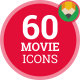 Icons Pack Cinema Film Movie Entertainment Hollywood Flat Animated Icons