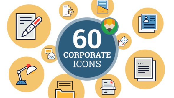VideoHive Icons Pack Financial Money Business Corporate Flat Animated Icons 21207949