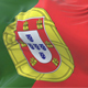 Flag of Portugal Waving at Wind