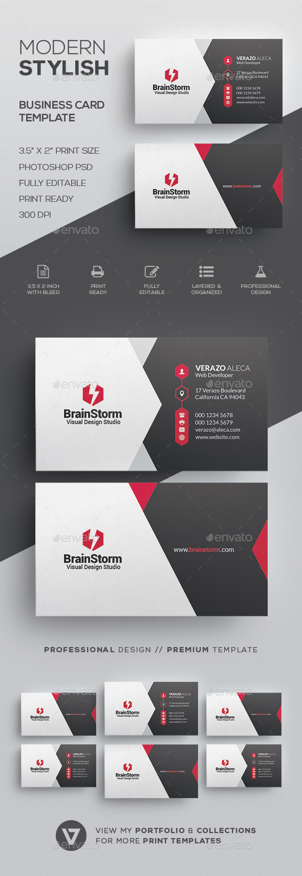 Creative corporate business card template by verazo graphicriver creative corporate business card template corporate business cards magicingreecefo Choice Image
