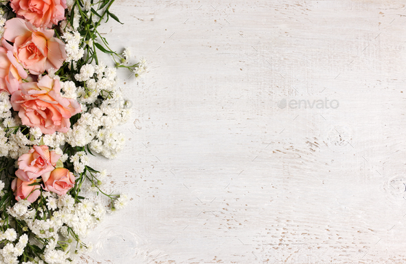 beautiful floral frame - Stock Photo - Images