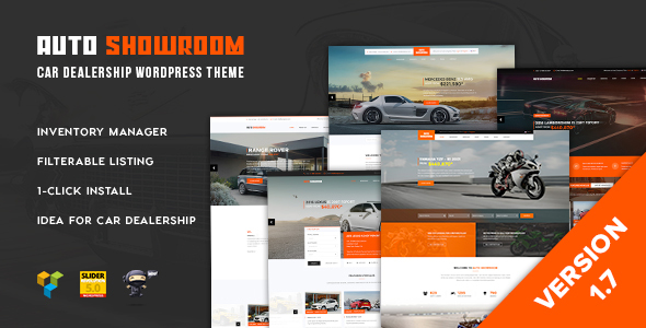 Auto Showroom - Car Dealership WordPress Theme