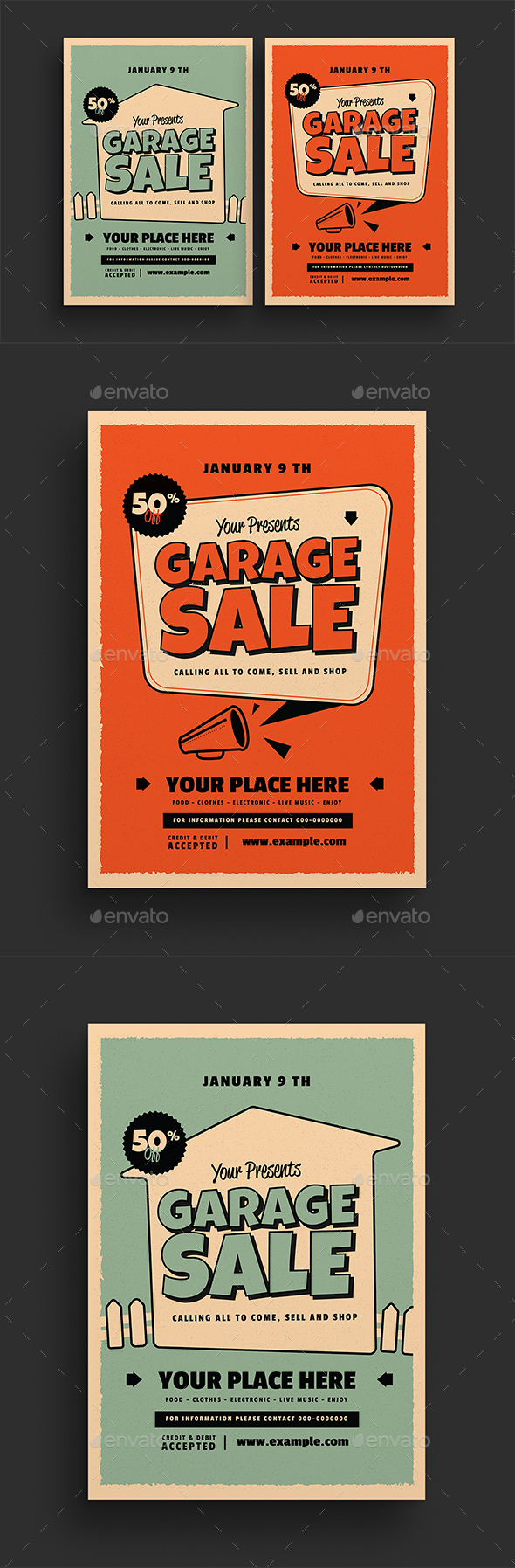 Retro Garage Sale Flyer - Commerce Flyers