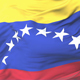 Flag of Venezuela Waving at Wind