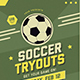 Soccer Tryouts Flyer - GraphicRiver Item for Sale