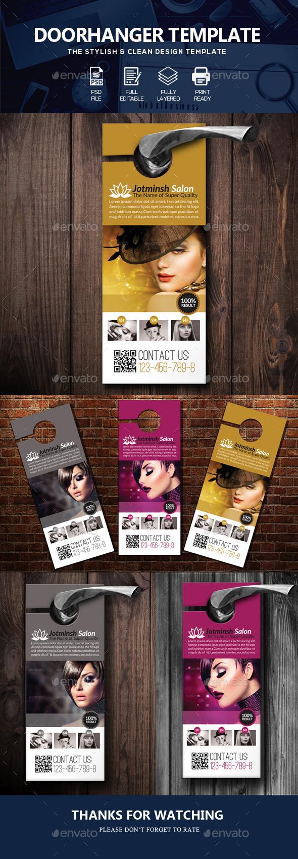 Beauty Salon/Fashion Door Hanger - Miscellaneous Events