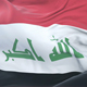 Flag of Iraq Waving at Wind