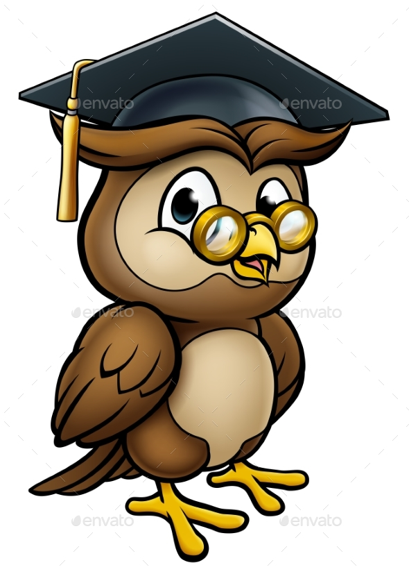 Wise Owl Graduate Teacher Character - Miscellaneous Vectors