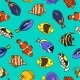 Cute Fish Vector Illustration Icons Set. Tropical - GraphicRiver Item for Sale