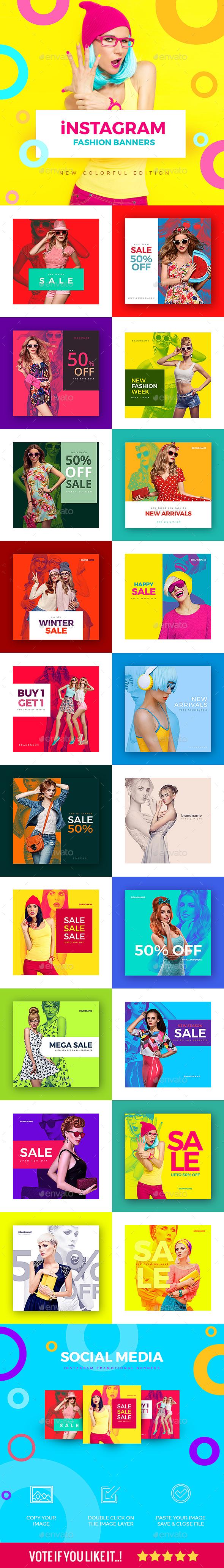 20 Fashion Instagram Banners - Social Media Web Elements