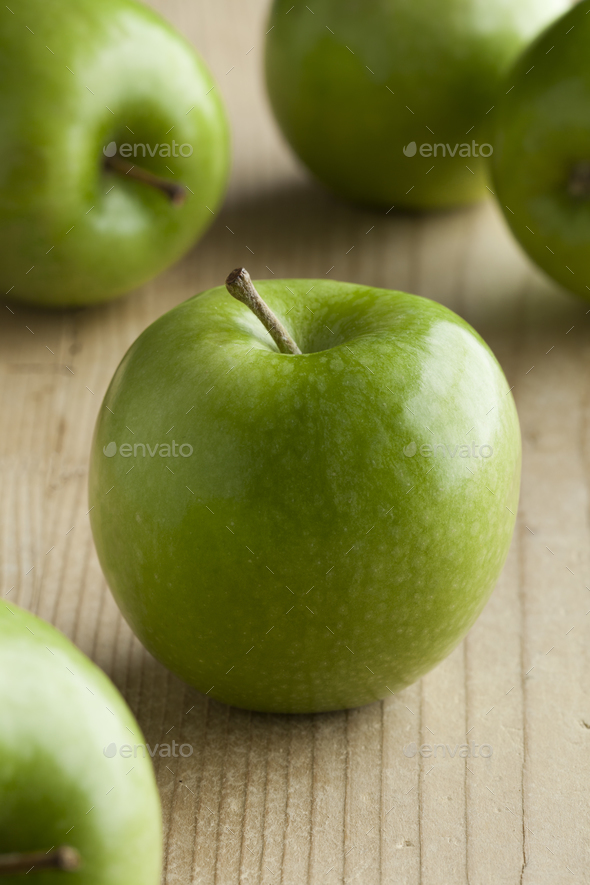 Fresh green apples - Stock Photo - Images