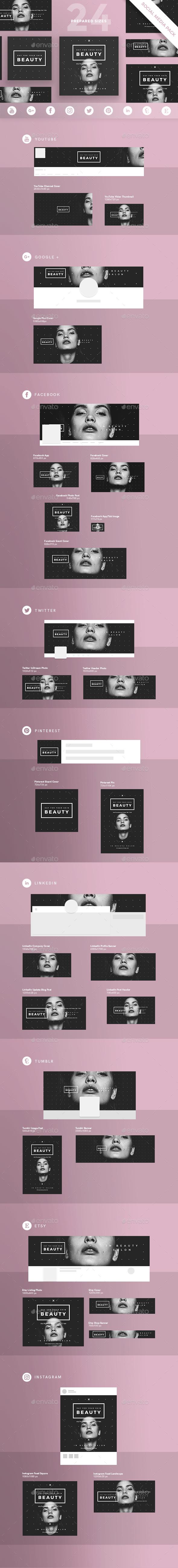 Skin Beauty Social Media Pack - Miscellaneous Social Media