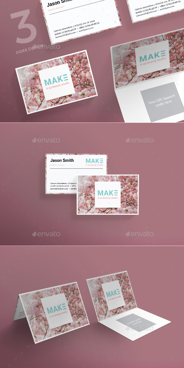 MakeUp Studio Business Card - Business Cards Print Templates