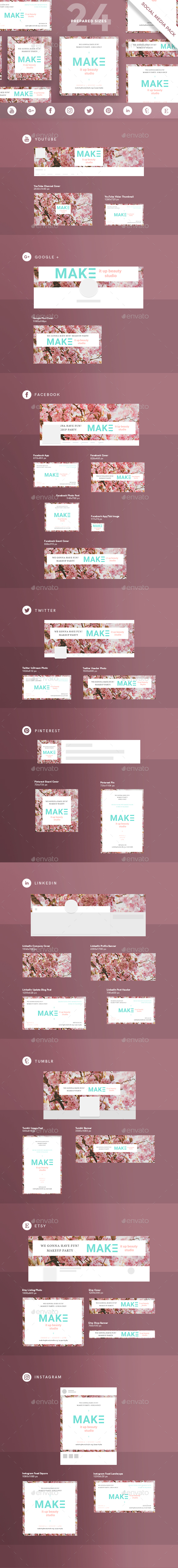 MakeUp Studio Social Media Pack - Miscellaneous Social Media