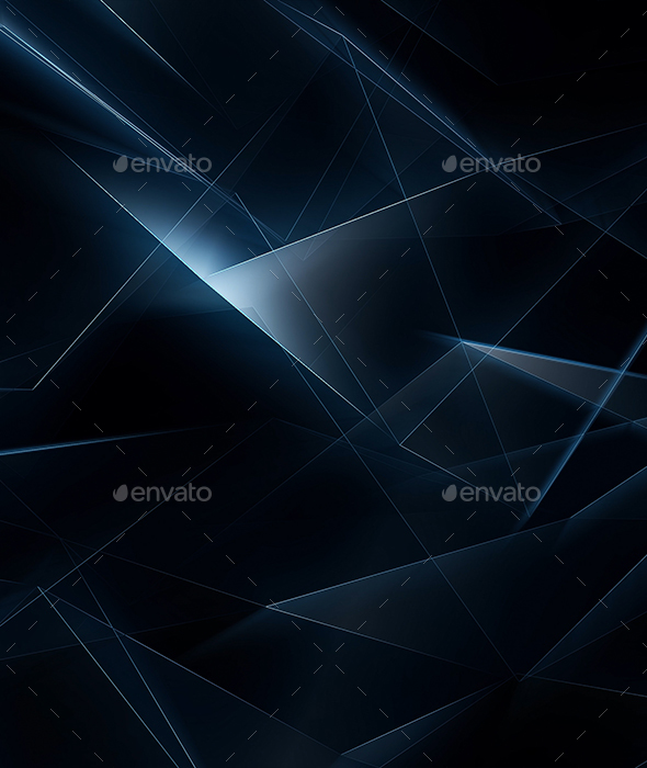 Epic Dark Blue Abstract Geometrical Lines - Abstract Backgrounds