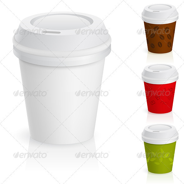 Set of Takeaway Coffee Cups - Man-made Objects Objects