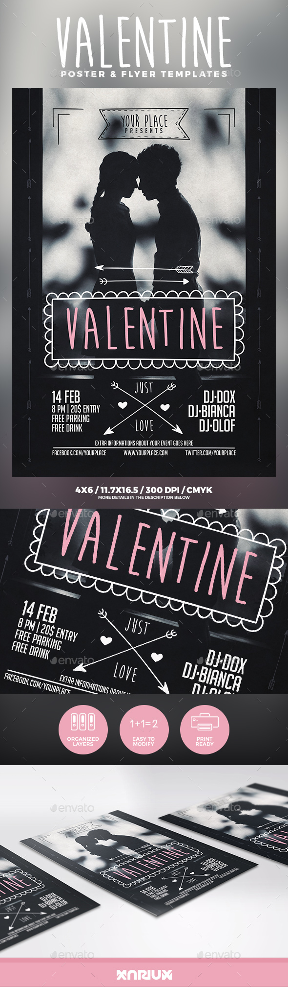 Valentine Flyer & Poster - Clubs & Parties Events