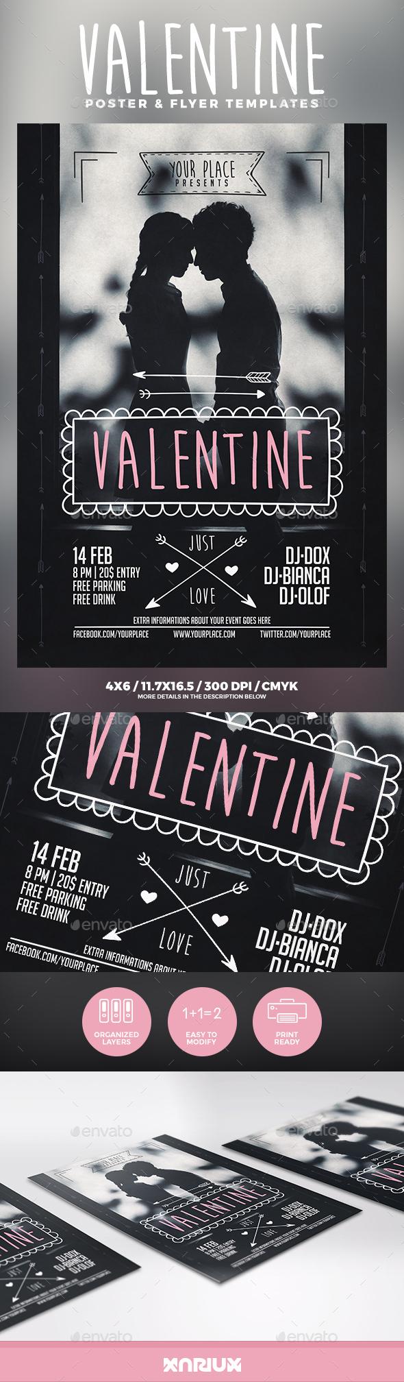 Valentine Flyer & Poster