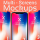 X Multi-Screens Apps Presentations Mock-ups - GraphicRiver Item for Sale