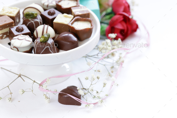 Chocolate Pralines - Stock Photo - Images