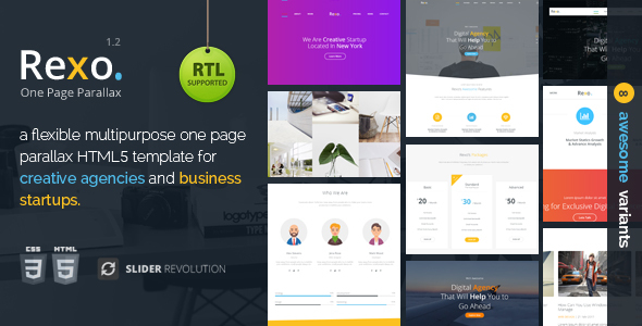 Rexo - One Page Parallax