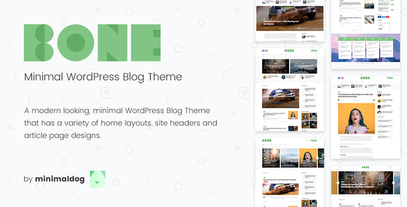 bone - minimal & clean wordpress blog theme (personal) Bone – Minimal & Clean WordPress Blog Theme (Personal) preview