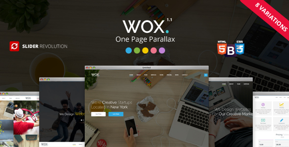 Wox - One Page Parallax - Creative Site Templates