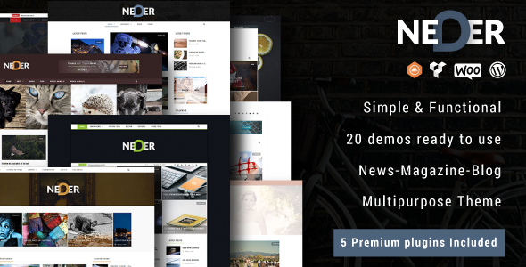 ThemeForest Neder WordPress News Magazine and Blog Theme 20757784