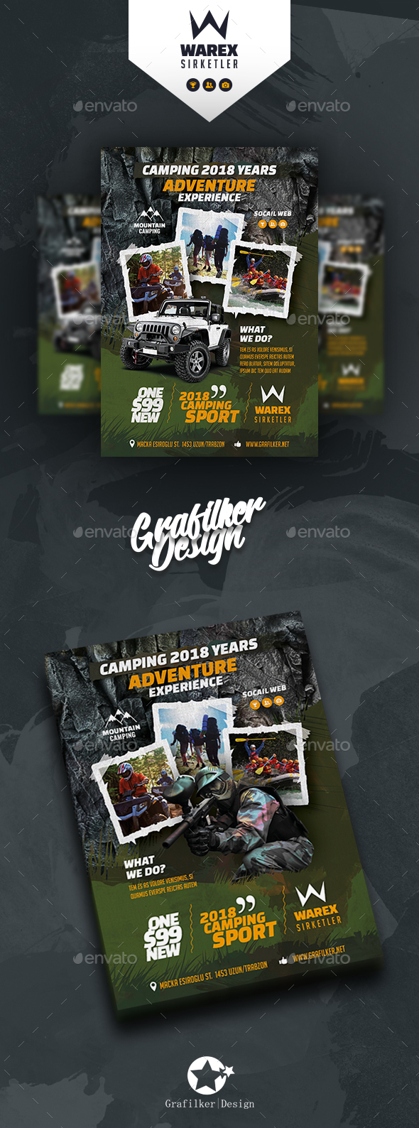 Camping Adventure Flyer Templates - Corporate Flyers