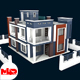 Modern House Building - 3DOcean Item for Sale