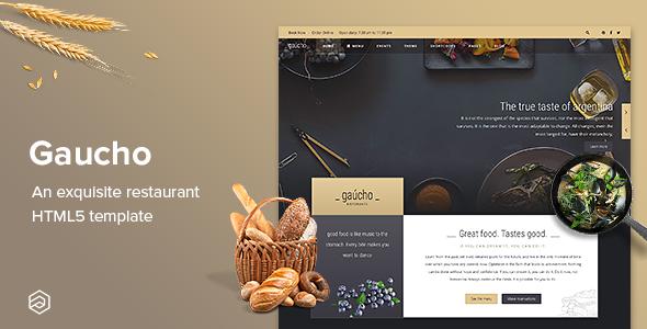Gaucho Restaurant - Responsive & Cafe Bistro Restaurant HTML5 Template