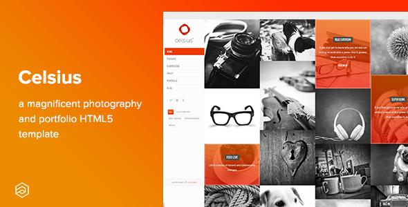 Celsius - Photography & Video Portfolio Responsive HTML5 Template