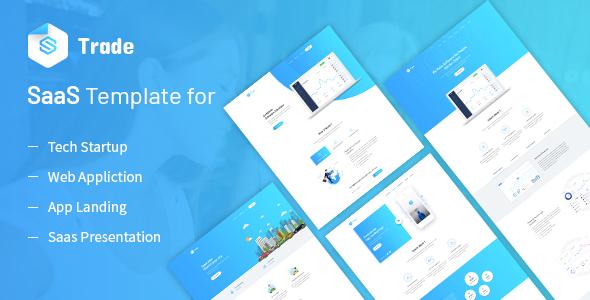 SaaS Trade - Startups SaaS Template Free Download | Nulled