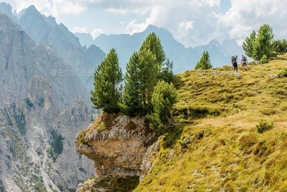 Two Hikers on the Trailhead - Stock Photo - Images