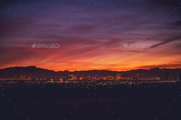 Sin City Las Vegas Nevada - Stock Photo - Images