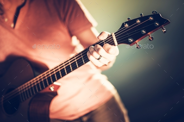 Guitar Neck Handling - Stock Photo - Images