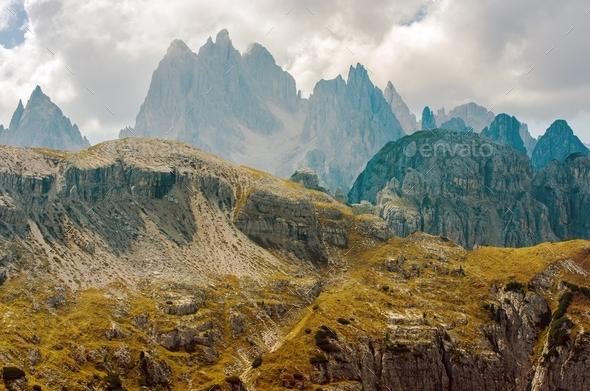 Scenic Dolomites Mountains - Stock Photo - Images