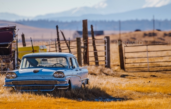 American Made Classic Car - Stock Photo - Images