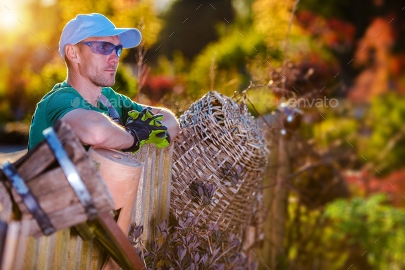 Summer Garden Work - Stock Photo - Images