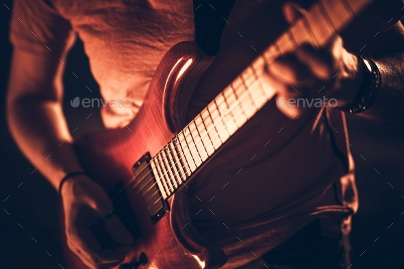 Rockman with the Guitar - Stock Photo - Images