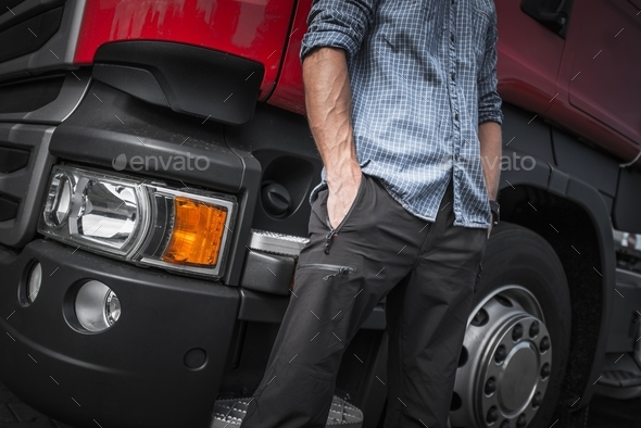 Semi Truck Driver Job - Stock Photo - Images
