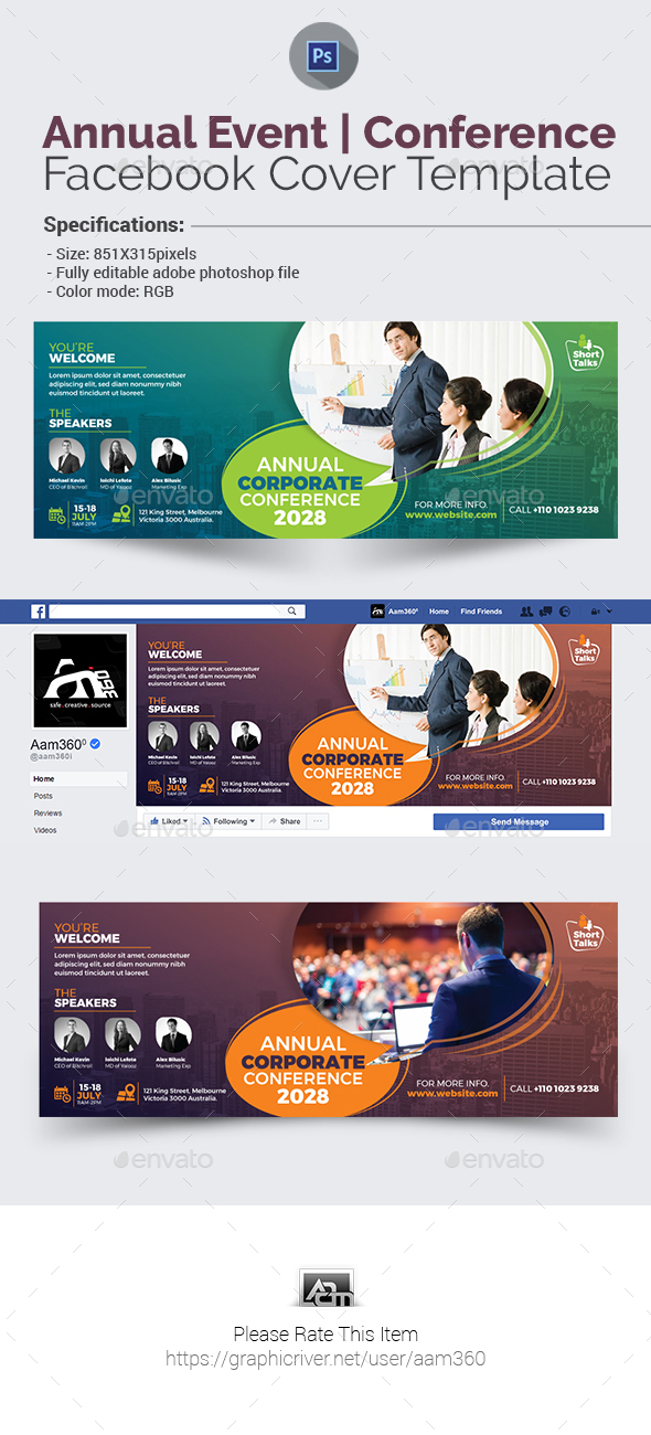 Annual Event/Conference Facebook Cover - Facebook Timeline Covers Social Media