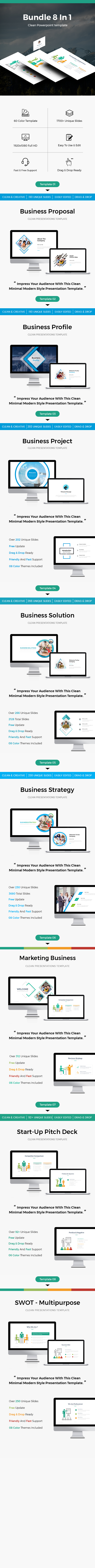 Bundle 8 In 1 Business Powerpoint Template - PowerPoint Templates Presentation Templates