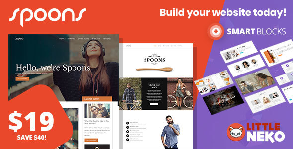 ThemeForest Spoons Multipurpose WordPress Theme 20033558