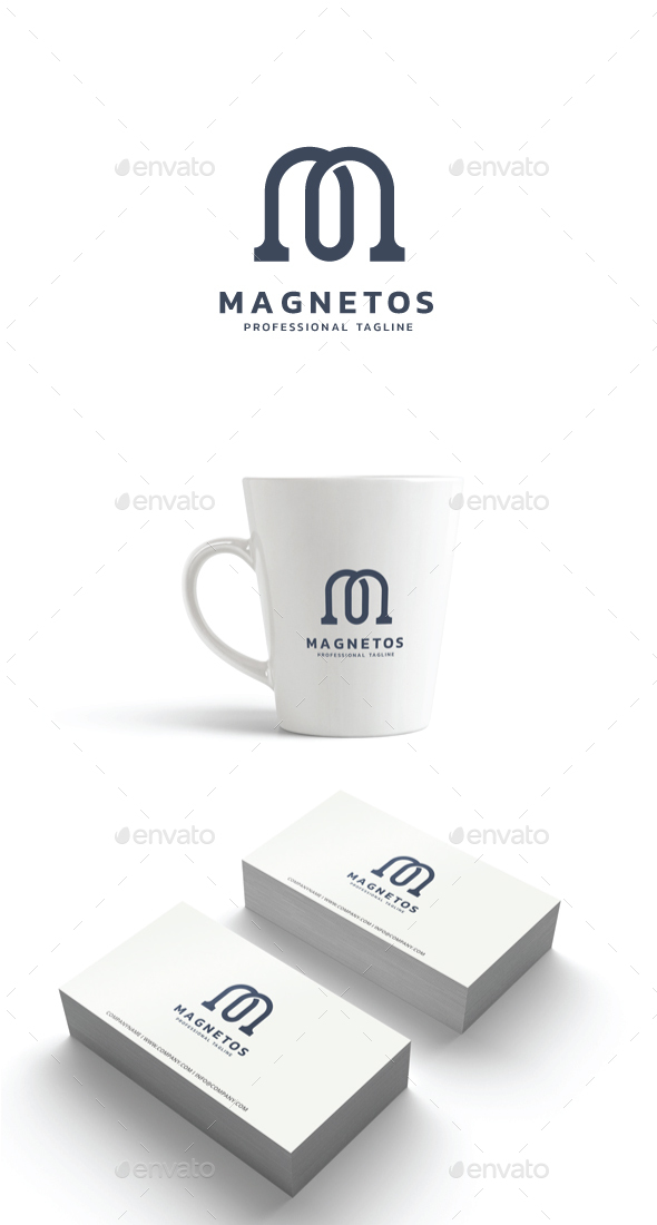 Letter M - Magnetos Logo - Letters Logo Templates