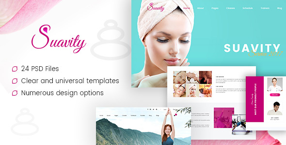 Suavity - Yoga & Spa PSD Template - Health & Beauty Retail