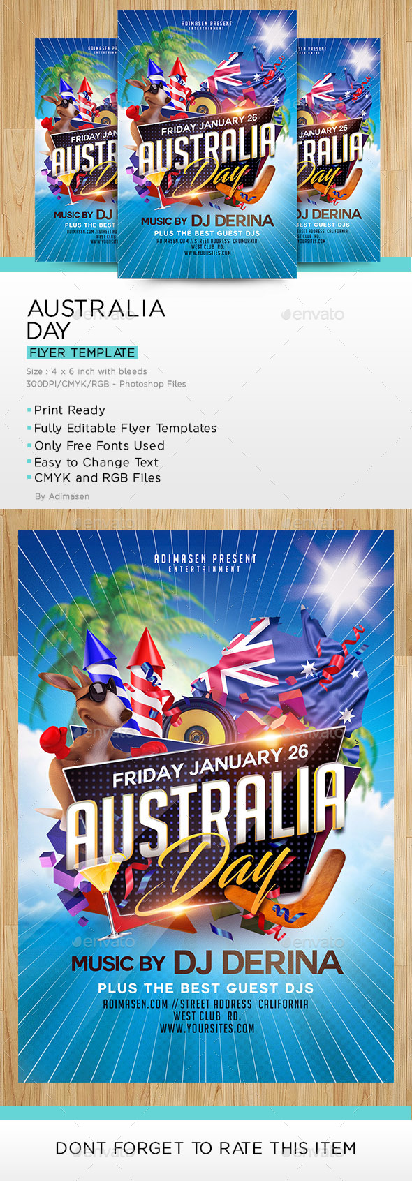 Australia Day Flyer Template - Events Flyers