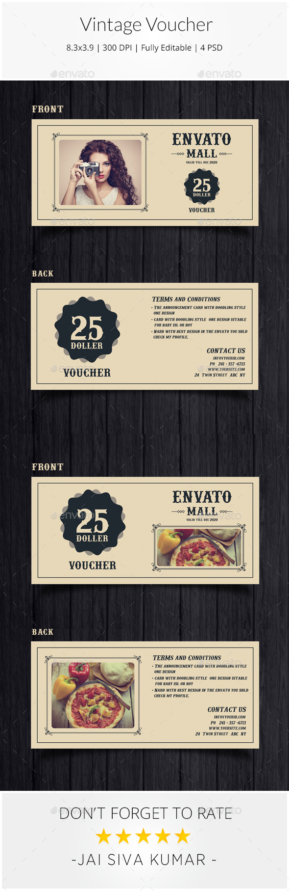 Vintage Voucher - Loyalty Cards Cards & Invites