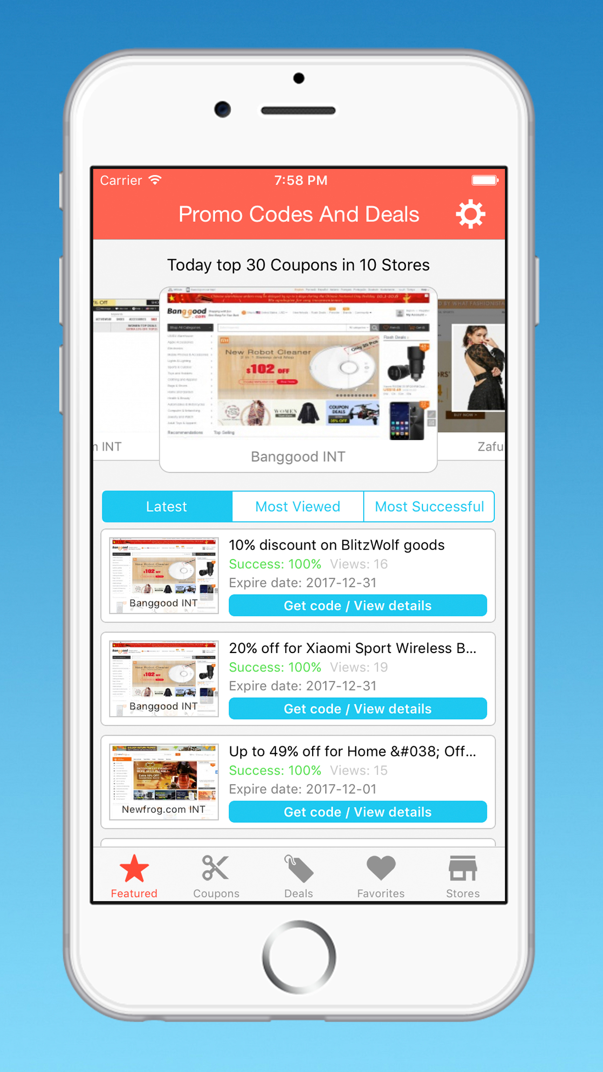 Coupons Ios App Template For Clipper Theme by devkit | CodeCanyon