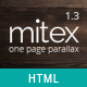 Mitex - One Page Parallax - ThemeForest Item for Sale